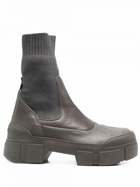 Кожаные ботинки - зеленые Vic Matie