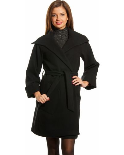 Черное пальто осеннее Perspective