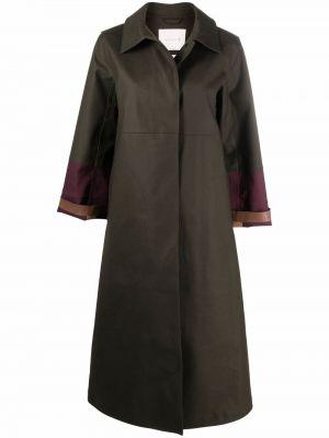 Зеленое пальто с потайной застежкой Mackintosh