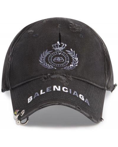 Czarna czapka bawełniana Balenciaga