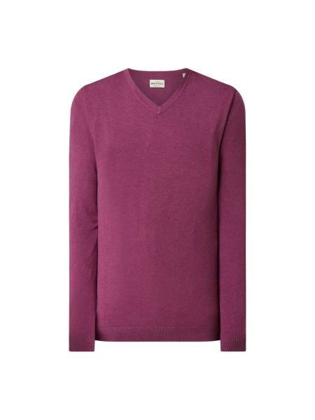 Prążkowany różowy sweter z wiskozy Montego