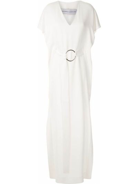 Прямое платье мини с разрезами по бокам с короткими рукавами с аппликациями Gloria Coelho