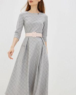 Платье серое прямое Avemod