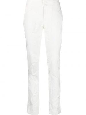 Białe spodnie z nylonu Issey Miyake