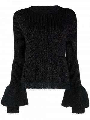 Czarna koszulka z długimi rękawami Dvf Diane Von Furstenberg