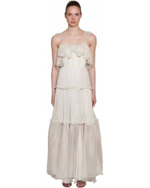 Шелковое платье - белое Maria Lucia Hohan