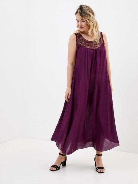 Вечернее платье весеннее фиолетовый Ulla Popken