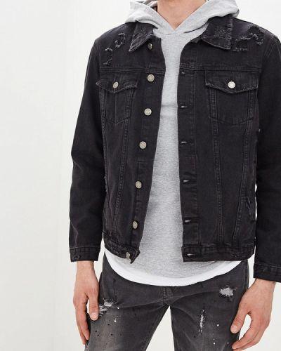 Джинсовая куртка черная Aarhon