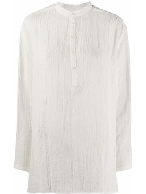 Białe szorty z wysokim stanem bawełniane Jil Sander