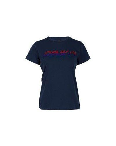 Синяя футболка Pinko