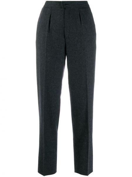 Прямые брюки винтажные с воротником со складками Guy Laroche Pre-owned