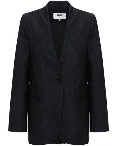 Черный пиджак с подкладкой из вискозы Mm6