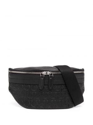 Кожаная поясная сумка - черная Salvatore Ferragamo