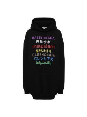 Худи оверсайз - черное Balenciaga