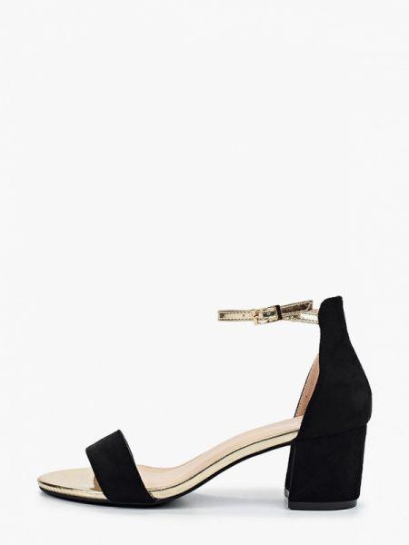 Замшевые туфли черные Ideal Shoes®