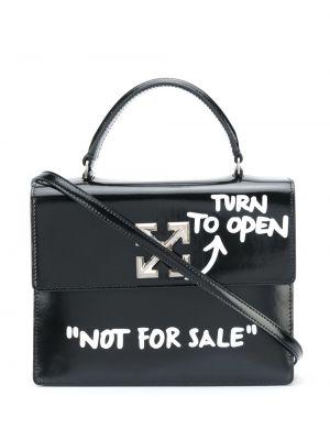 Кожаная черная сумка на плечо Off-white