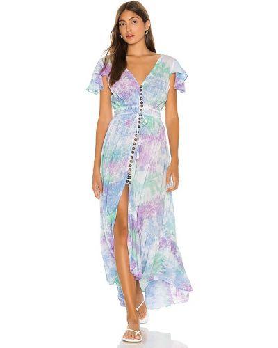 С кулиской синее платье макси Tiare Hawaii