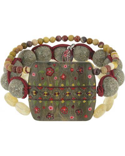 Браслет с жемчугом деревянный Nature Bijoux