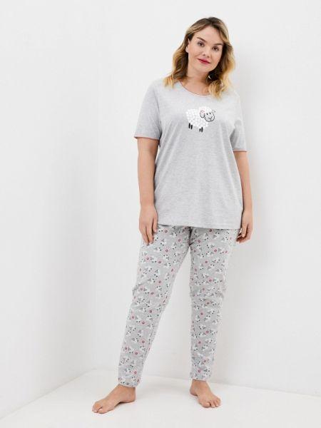 Пижама пижамный серая Ulla Popken