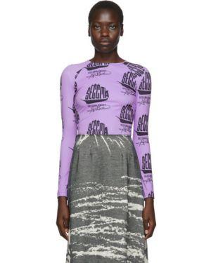 Koszula z długim rękawem długo fioletowy Serapis