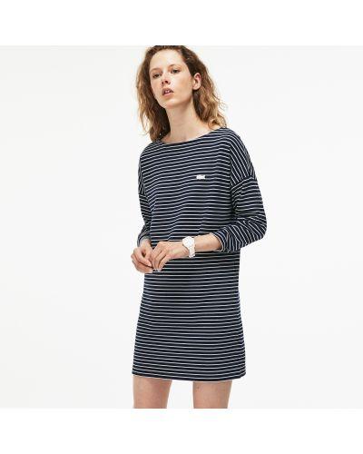 Платье макси в полоску платье-поло Lacoste
