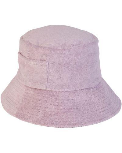 Махровая фиолетовая шапка с карманами Lack Of Color