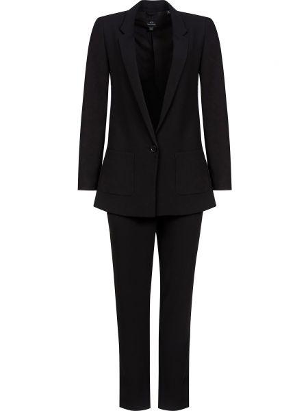 Костюмный черный костюм на пуговицах Armani Exchange