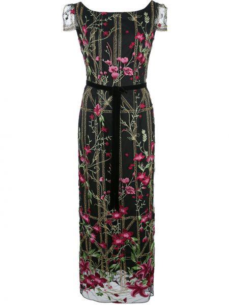 Вечернее платье с открытой спиной мини Marchesa Notte