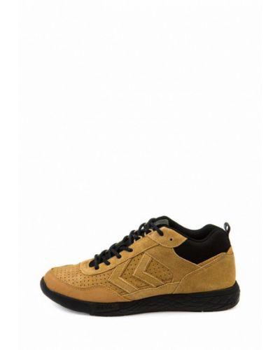 Кожаные кроссовки - бежевые Hummel