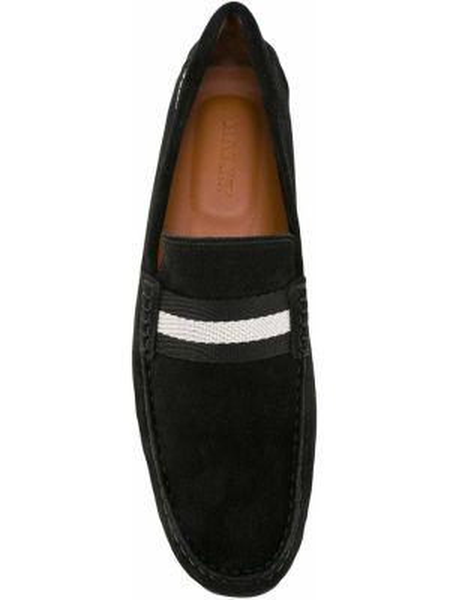 Czarne loafers zamszowe Bally