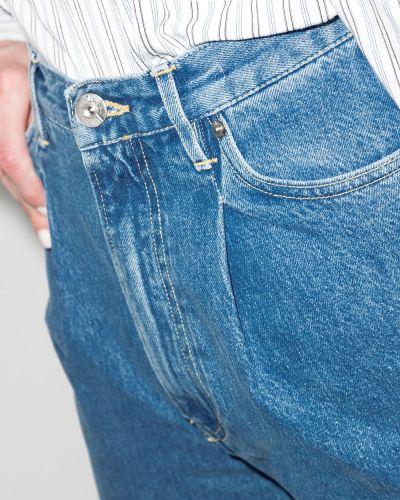 Хлопковые синие прямые джинсы 3x1