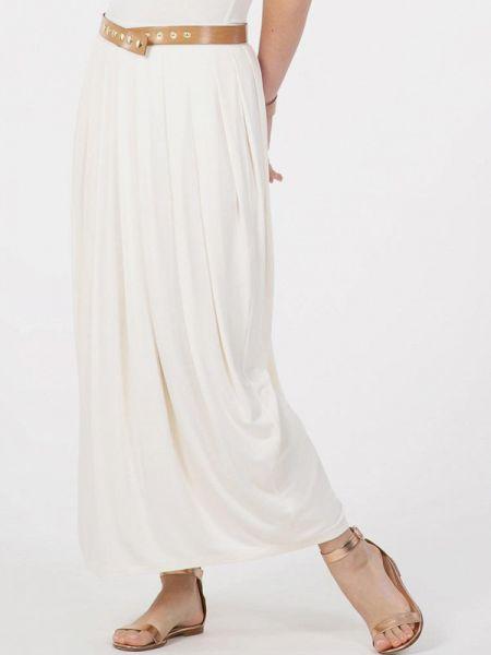 Плиссированная белая плиссированная юбка Petit Pas