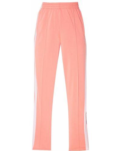 Спортивные брюки на резинке розовый Adidas