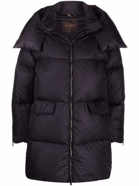 Черная куртка с перьями Moorer