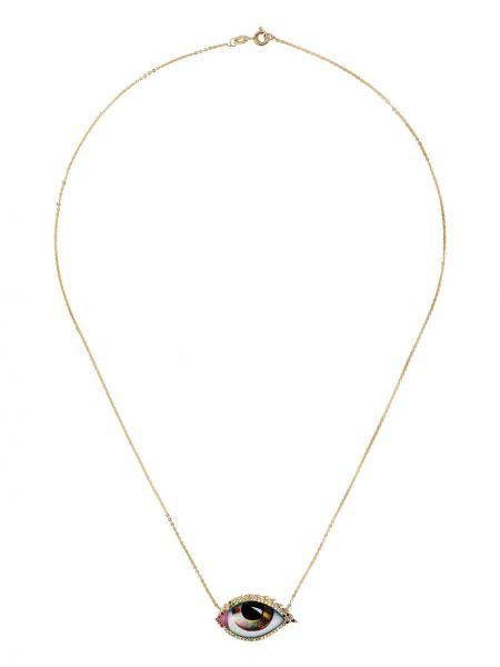Różowy złoty naszyjnik z diamentem Lito