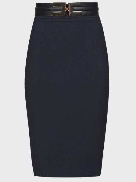 Черная юбка с поясом на молнии Elisabetta Franchi