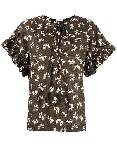 Хлопковая зеленая блузка круглая P.a.r.o.s.h.
