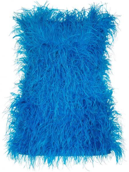 Niebieska sukienka mini bawełniana Attico