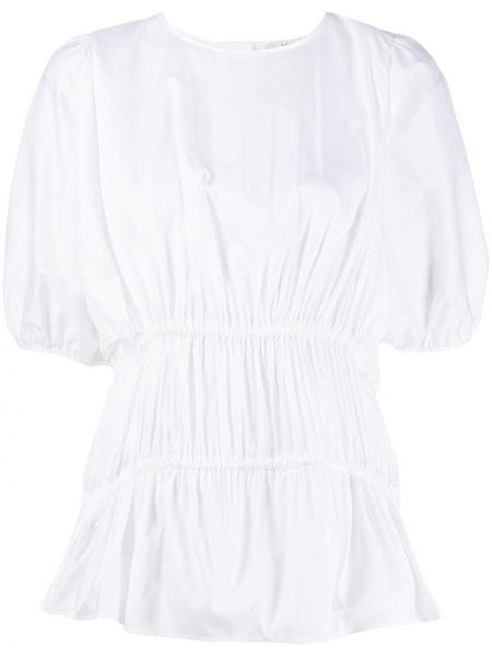 С рукавами белая блузка с вырезом Victoria, Victoria Beckham
