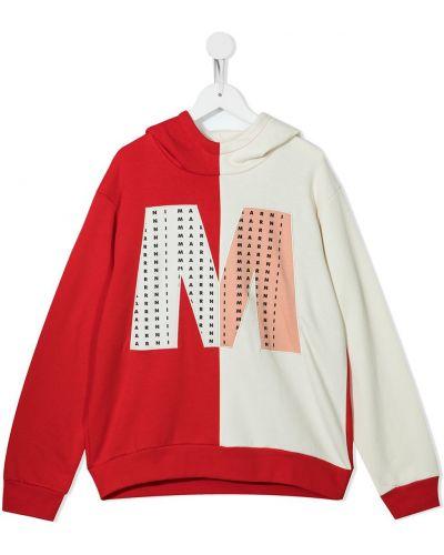 Biały klasyczny sweter Marni Kids