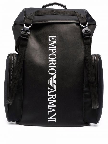 Plecak skórzany - biały Emporio Armani