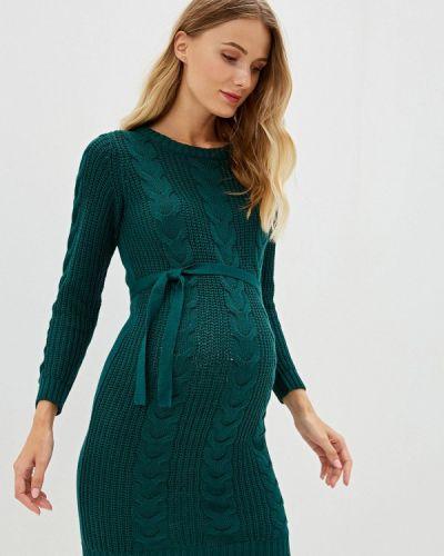 Платье для беременных осеннее зеленый Mama.licious
