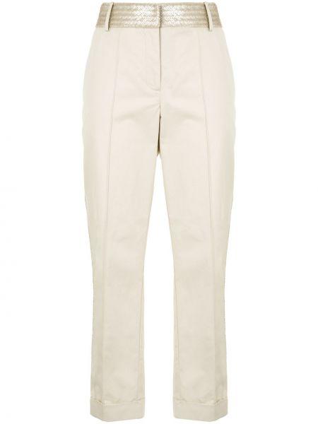 Белые прямые брюки с карманами с потайной застежкой Silvia Tcherassi