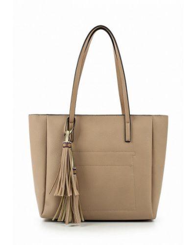 Бежевая сумка шоппер Fabretti