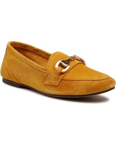 Lordsy zamszowe - żółte Filipe