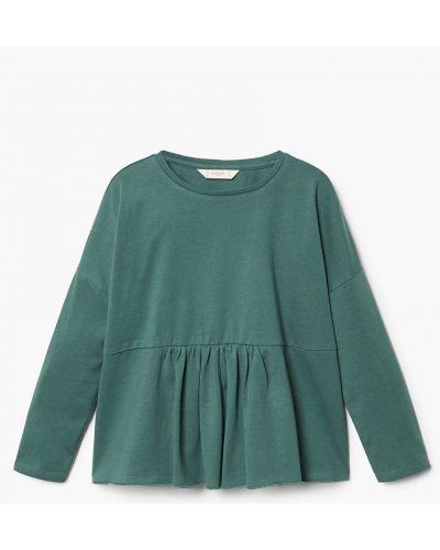 Зеленая блуза Mango Kids