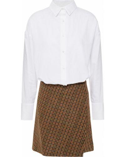 Хлопковое платье мини - белое Maje