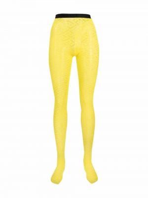 Rajstopy - żółte Versace