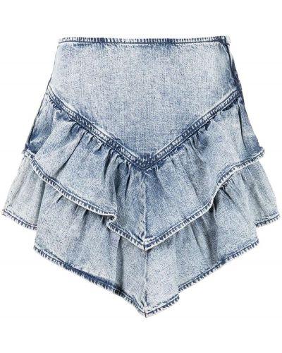 Синяя хлопковая юбка мини на шпильке Mother