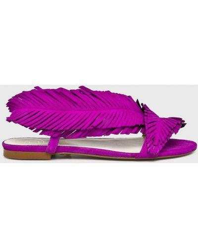 Кожаные сандалии - розовые Baldowski